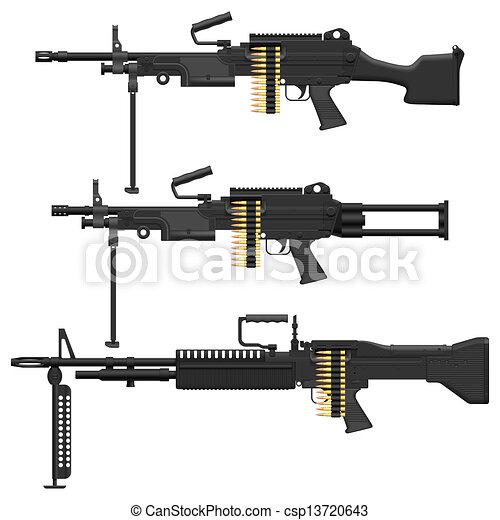 Machine Gun - csp13720643