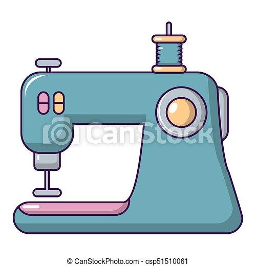 machine ic ne style couture dessin anim toile couture illustration machine conception. Black Bedroom Furniture Sets. Home Design Ideas