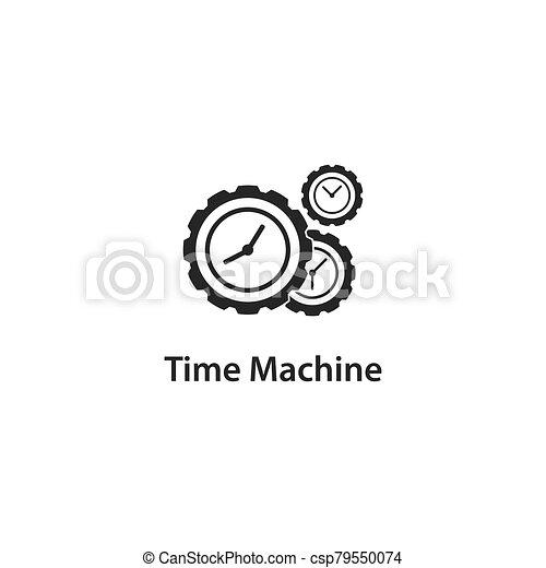 machine, icône, temps - csp79550074