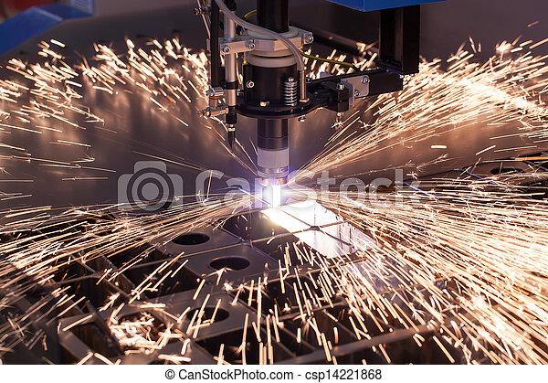 machine, industriel, découpage, plasma - csp14221868
