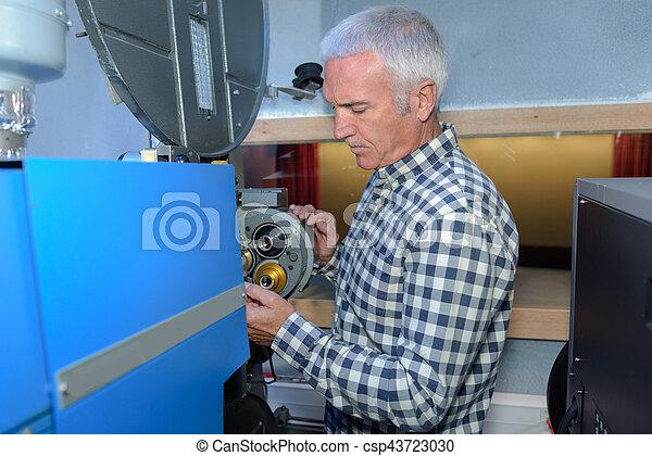 machine, industriel, inspection, ingénieur - csp43723030