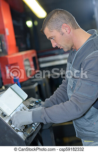 machine, industriel, inspection, ingénieur - csp59182332