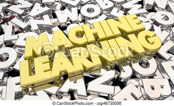 Line Art Letters : Machine learning letters words artificial intelligence d stock