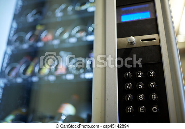 machine, opération, panneau, vente, clavier - csp45142894
