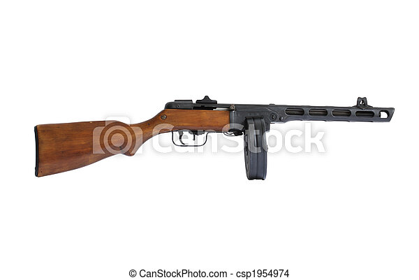 machine, oud, geweer - csp1954974