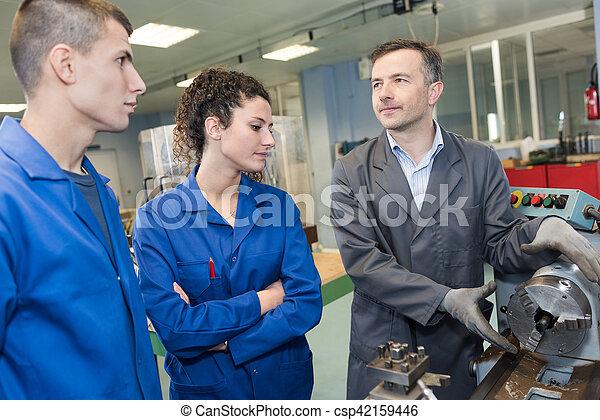 machine, projection, apprenti, ingénieur, mécanique - csp42159446