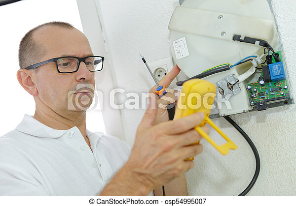 machine, régler, usine, ingénieur - csp54995007