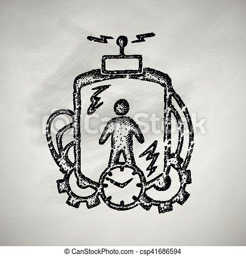 machine, temps, icône - csp41686594