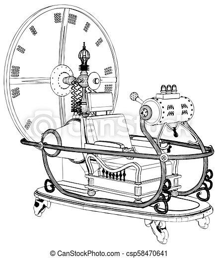 machine temps, vecteur, 05 - csp58470641