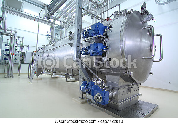machinery in a pharmaceutical production plant - csp7722810