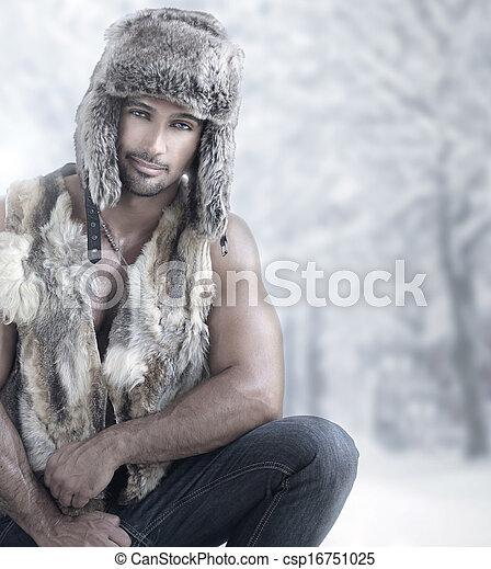 macho, moda, invierno - csp16751025