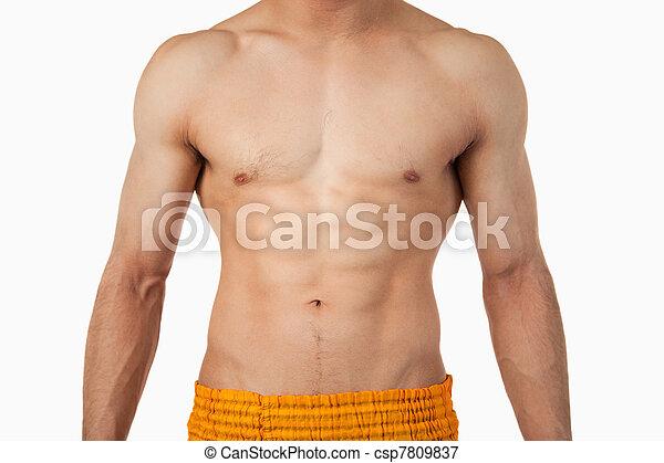 torso masculino - csp7809837