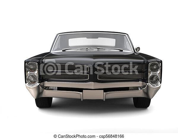 machtig, ouderwetse , -, black , auto, vooraanzicht - csp56848166
