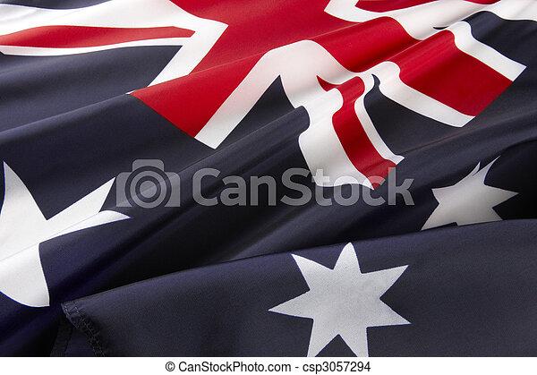 Un Macro con una bandera australiana - csp3057294