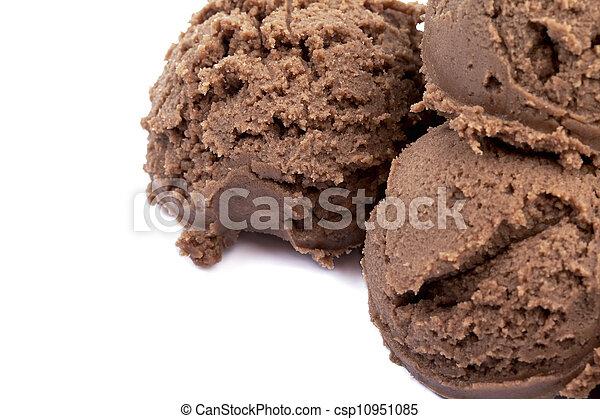 macro chocolate ice cream - csp10951085