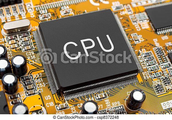 Macro of computer chip - csp8372248