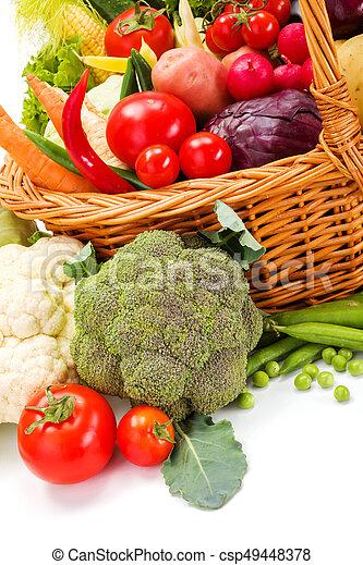 Macro of various vegetables - csp49448378