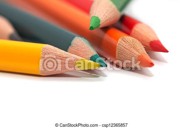macro, pencils., colorido - csp12365857