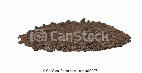 macro pile dirt isolated on white  - csp10299371