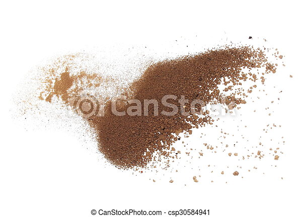 macro pile dirt isolated on white - csp30584941