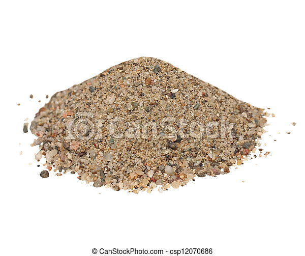 Macro pile sand isolated on white - csp12070686
