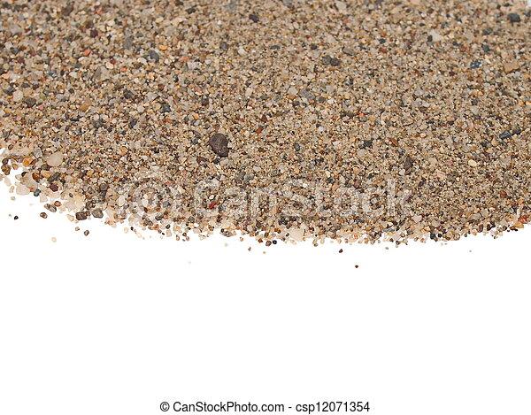 Macro pile sand isolated on white - csp12071354