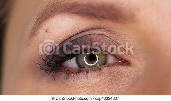 Parpadeo en el ojo