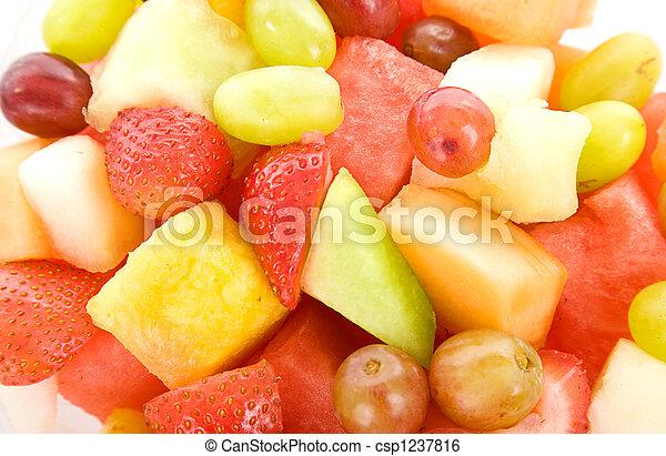 macro, salada fruta, fundo - csp1237816
