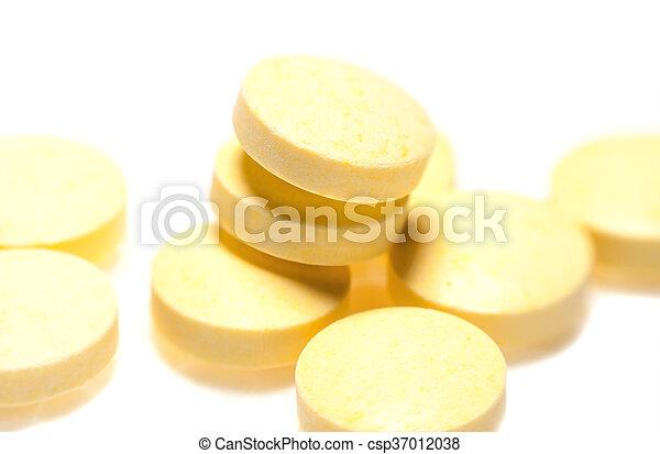 Macro texture of a pill - csp37012038
