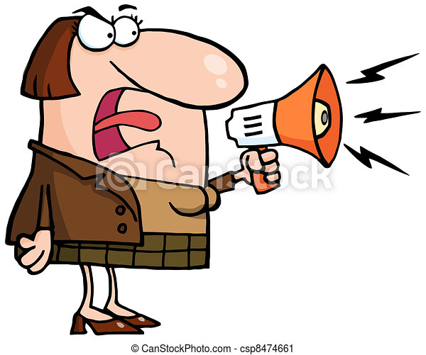 mad business woman mad business woman yelling through a vector rh canstockphoto com business clipart images business clip art free downloads microsoft