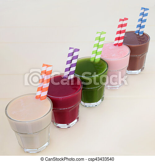 mad, drink, sundhed, samling - csp43433540
