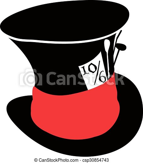 Alice in wonderland mad hatter hat eps vector - Search ...