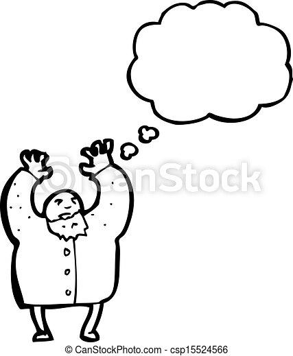 mad scientist cartoon - csp15524566