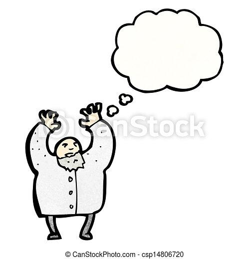 mad scientist cartoon - csp14806720