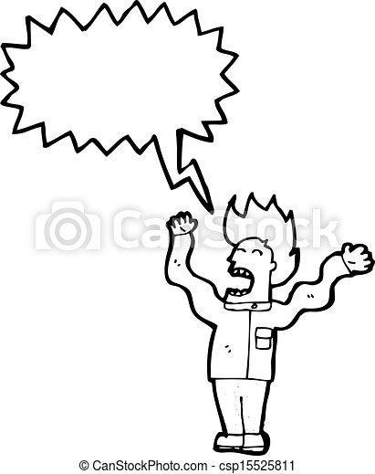 mad scientist cartoon - csp15525811