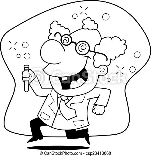 Mad Scientist - csp23413868