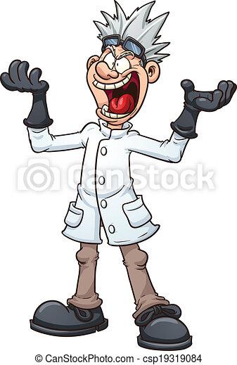 mad scientist mad cartoon scientist vector clip art illustration rh canstockphoto com female mad scientist clipart mad scientist clip art free
