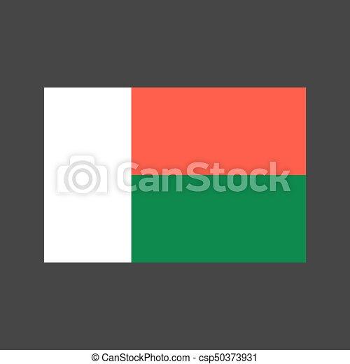 Madagascar Flag Illustration Madagascar Flag On The Gray - Madagascar flag