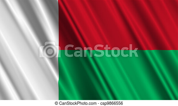 Madagascar Flag Stock Illustration Search Clip Art Drawings - Madagascar flag
