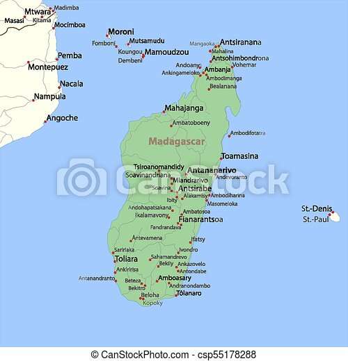 Madagascar World Countries Vectormap A Map Of Madagascar Shows