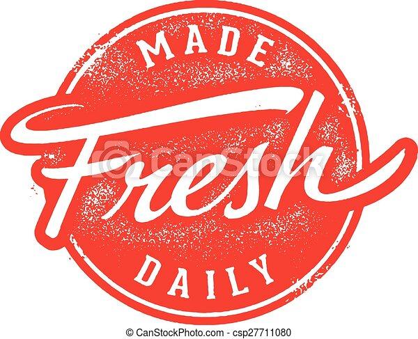 Made Fresh Daily Stamp - csp27711080