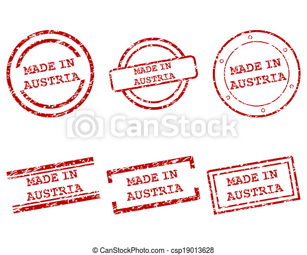 Made in Austria stamps - csp19013628