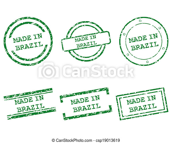 Made in Brazil stamps - csp19013619