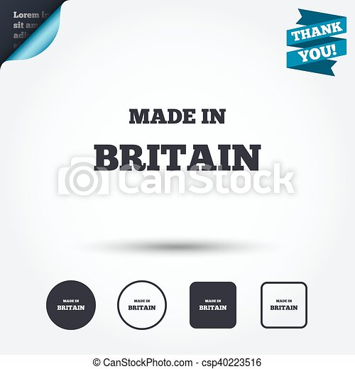 made in britain icon export production symbol product created in
