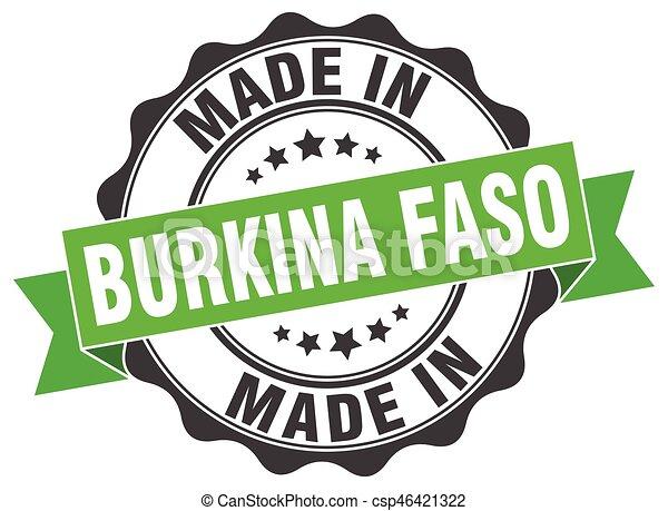 made in Burkina Faso round seal - csp46421322