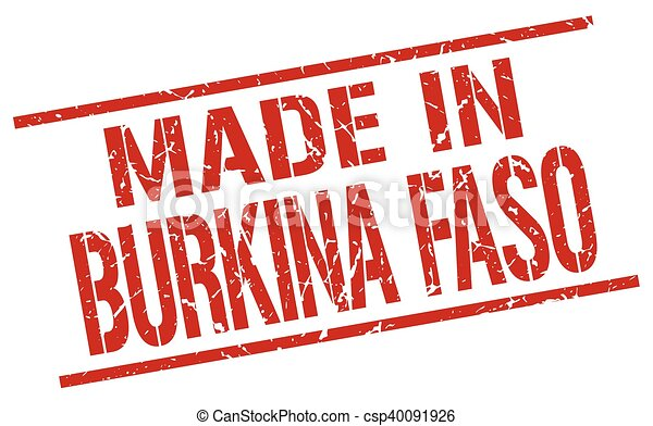 made in Burkina Faso stamp - csp40091926