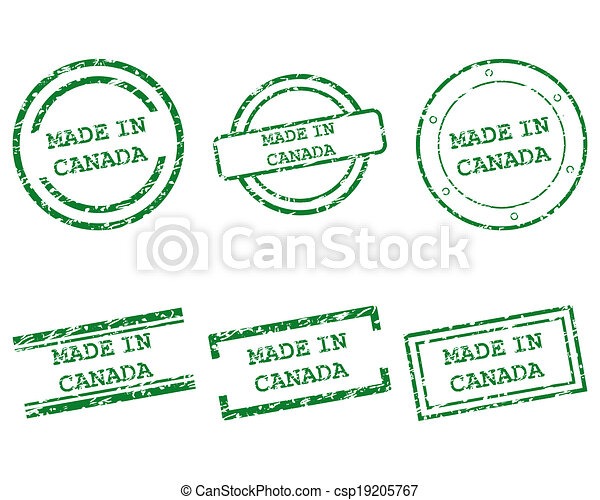 Made in Canada stamps - csp19205767