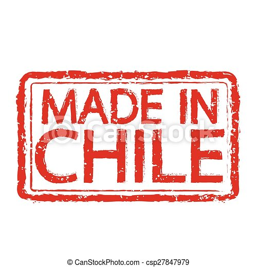 Made In Chile Stamp Text Illustration