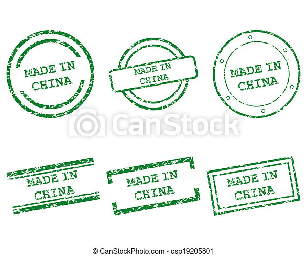 Made in China stamps - csp19205801