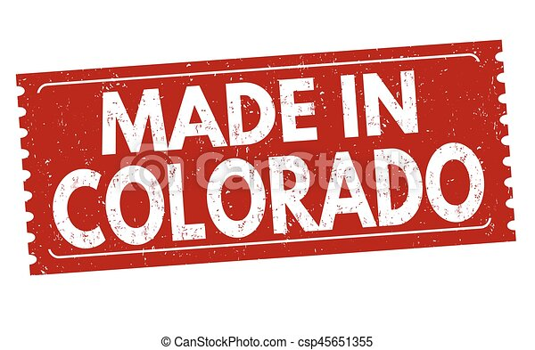 Made In Colorado Sign Or Stamp